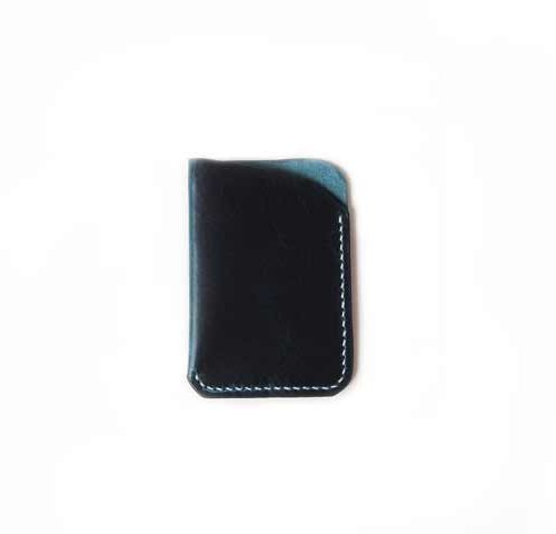 Waxy Veg Blue Front Pocket Wallet