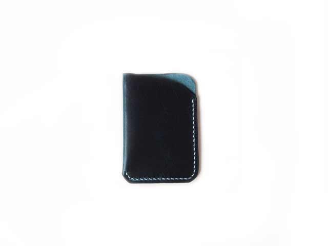 Waxy Veg Blue Front Pocket Wallet