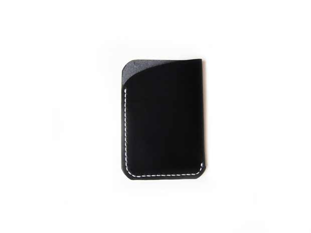 Buttero Black Front Pocket Wallet