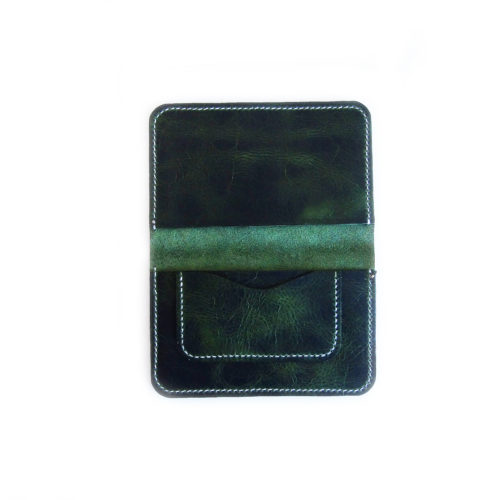 Green Leather Field Notes Cover