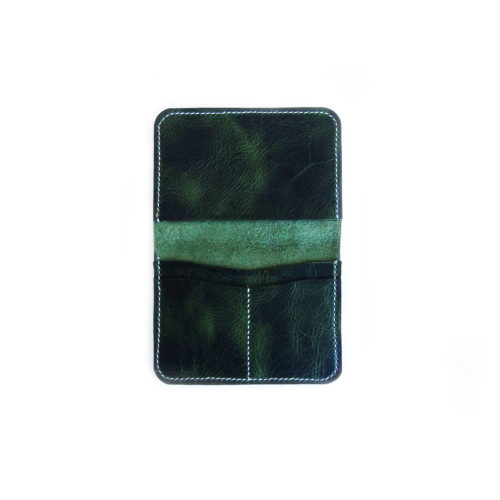 Green Leather Passport Cover
